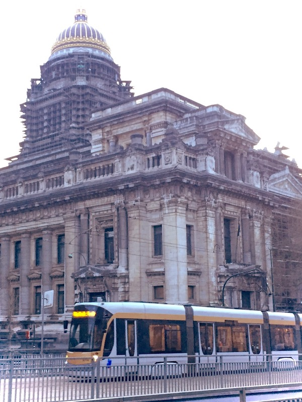 Tram and Palace of Justice Photo
