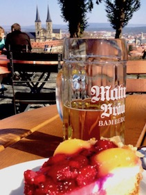 Photo: dessert and beer
