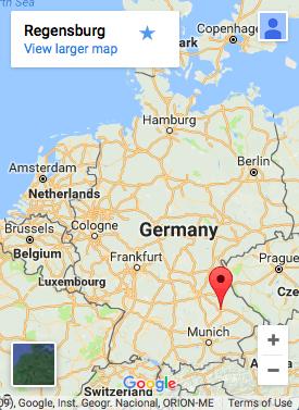 Map: Regensburg Location