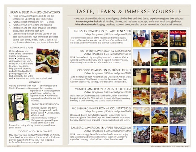 Immersion Brochure page 2