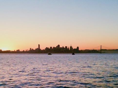 Photo: San Francisco Skyline Sunset