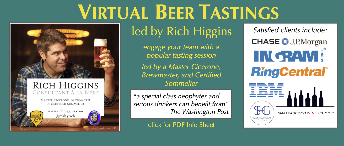 Virtual Beer Tastings with Rich Higgins teaser slide